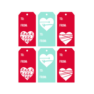 heart tags print and cut