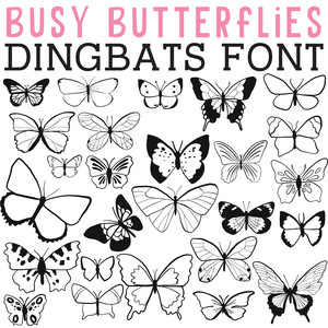 cg busy butterflies dingbats