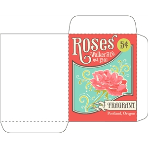 antique rose seed packet