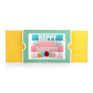sliding shadow box card birthday daughter