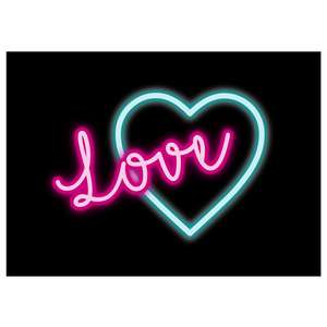 print and cut love neon sign