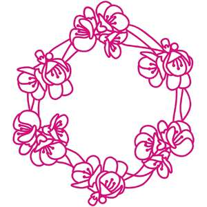 quince blossom wreath or frame
