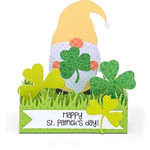 box card gnome shamrock
