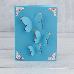 a2 insert card cut fold butterfly
