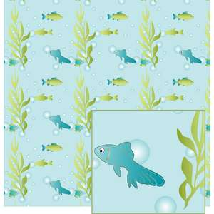 underwater with the fish pattern