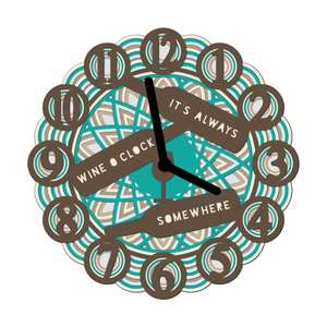 multi layer mandala clock wine o'clock