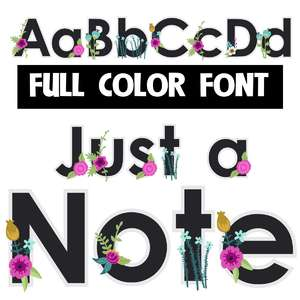 just a note color font