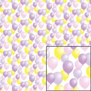 multicolor balloon pattern