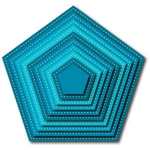 nested stitched pentagon
