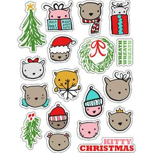 ml kitty christmas stickers