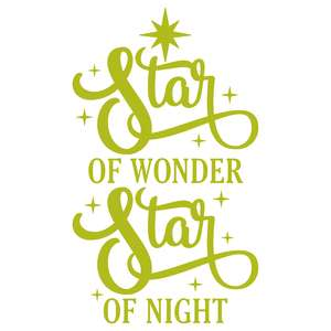 star of wonder star of night