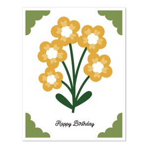 a2 insert card flower happy birthday