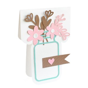 flower jar card