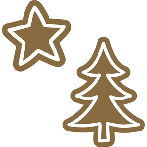 gingerbread star & christmas tree