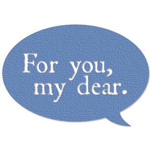 for you speech bubble