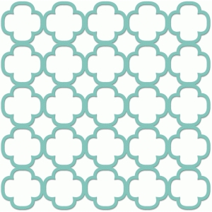 quatrefoil lattice screen
