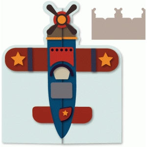airplane gatefold card
