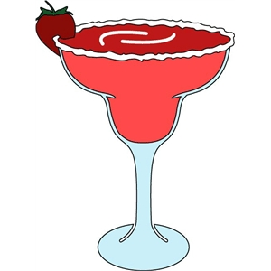 strawberry margarita glass