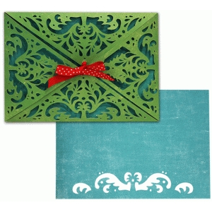 a2 card wrap set: holiday damask