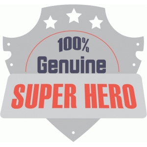 basicgrey super hero badge