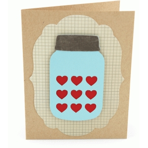 a2 mason jar bottle heart card