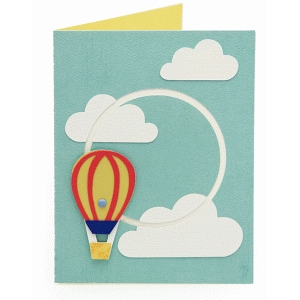 a2 interactive hot air balloon card