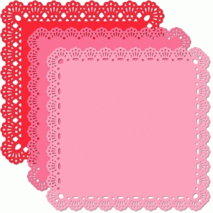 12 x 12 square doily radiating eyelet edge set