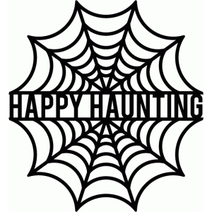 happy haunting spiderweb