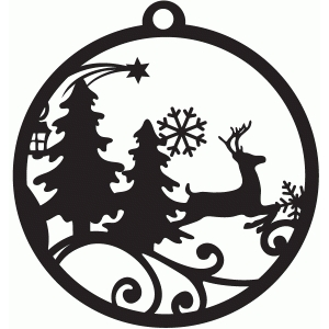 winter forest tag