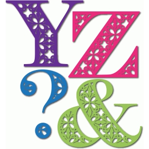 ornate monogram yz&?