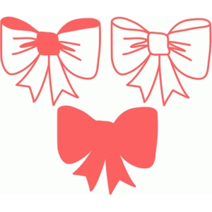 cute bow set