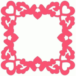 lovebirds heart frame