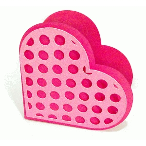 heart box with polka dots