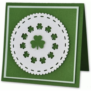 shamrock doily card