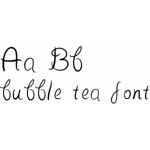 bubble tea font