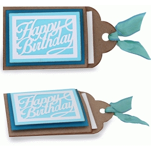 layered happy birthday gift card tag