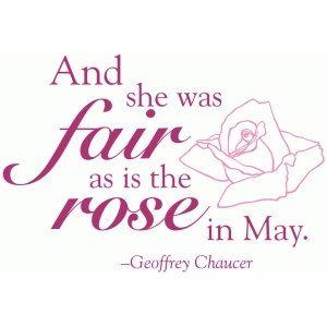 fair as the rose quote