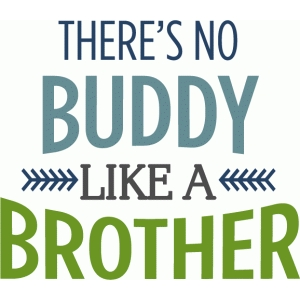 there's no buddy like a brother phrase