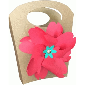 pinwheel handled bag