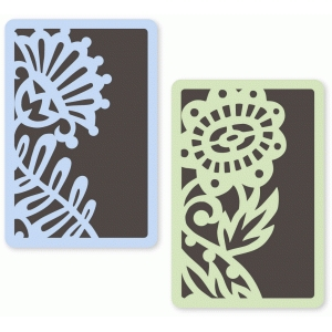 ornate garden floral layered cards