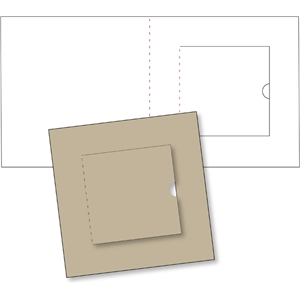 square card base w/flap