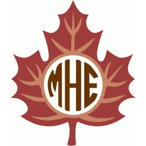 veined leaf monogram
