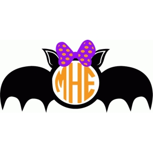 girl bat monogram