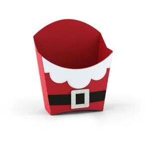 santa suit french fry box