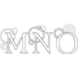 mno monogram sketch