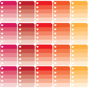 planner ombre labels warm