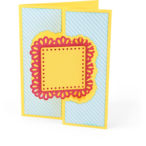 flip flap card square doily