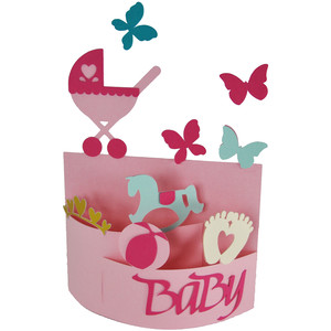 baby girl bendi card
