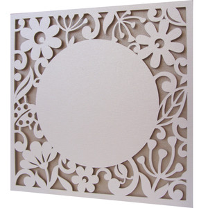 flowers flourish frame card