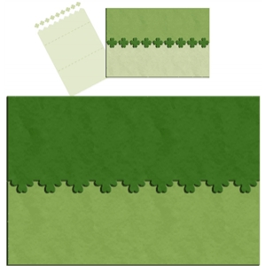 clover edged card